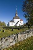 Munso medieval round church Sweden Stock Photo