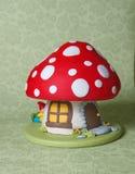 Mushroom Fantasy Cake Stock Images