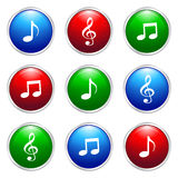 Music button Royalty Free Stock Images