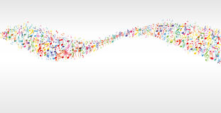 Music color wave Stock Photo