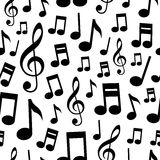 Music Notes Seamless Pattern Royalty Free Stock Photography