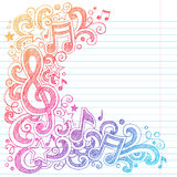Music Notes Sketchy School Doodles Vector Stock Photography
