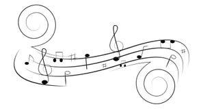 Music Swirl Stock Photography