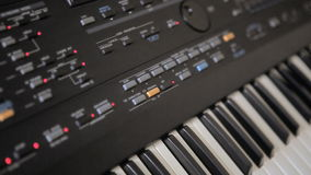 Music synthesizer stock footage