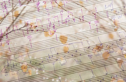 Musical and seasonal background Royalty Free Stock Image