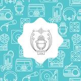 Musique et fond audio Images stock