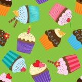 Muster mit kleinen Kuchen Lizenzfreies Stockbild