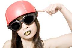 My red helmet Stock Photos