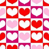 Nahtloser Muster Valentinstag Lizenzfreie Stockfotos
