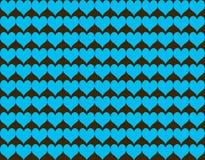 Nahtloser Musterhintergrund der abstrakten Herzform Lizenzfreies Stockfoto