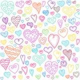 Nahtloses Muster der Liebesherzen Stockbild