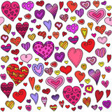 Nahtloses Muster der Liebesherzen Lizenzfreie Stockfotos