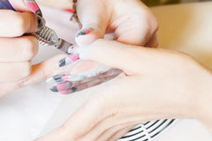 Nail technician Royalty Free Stock Images