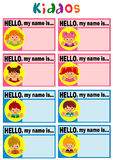 Name Tag for Kids Royalty Free Stock Images