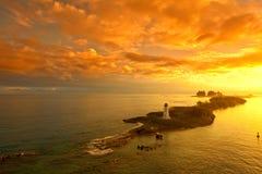 Nassau bahamas på gryning Arkivbild