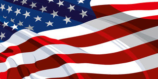 The national flag of the USA Stock Photography