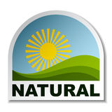 Natural landscape sticker Royalty Free Stock Photos