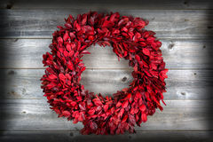 Natural leaf wreath, with vignette, for the seasonal holidays on Royalty Free Stock Image