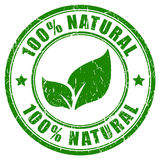 100 natural stamp Royalty Free Stock Photography