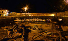 Nautical port at night Royalty Free Stock Image