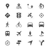 Navigation flat icons Royalty Free Stock Images