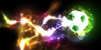 Neon banner football Stock Photos