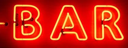 Neon Bar Sign Stock Image
