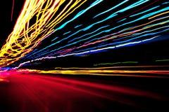 Neon coloured lights Stock Photos