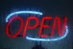 Neon open sign Stock Photo