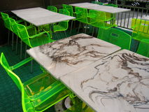 Neon tables Royalty Free Stock Photography