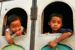 Nepalese children Royalty Free Stock Image