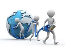 Netwerk wereldwijd Stock Afbeeldingen