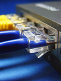 Network cable & hub. Royalty Free Stock Images