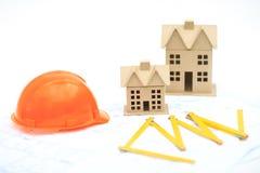 Neue Häuser auf dem Plan Lizenzfreie Stockfotos
