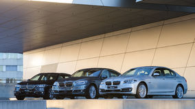 New collection of powerful BMW 535 business and family classes Stock Photo