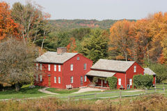 New England Architecture in Fall colors Stock Photography