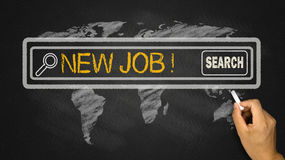New job in search bar Royalty Free Stock Photos