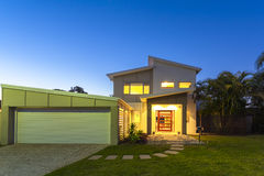 New modern home exterior Royalty Free Stock Photo