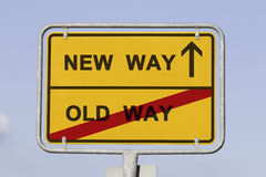 New and old way Stock Photo