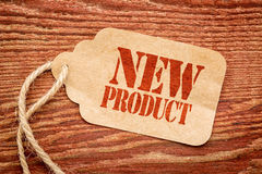 New product sign  on a price tag Royalty Free Stock Photo