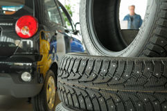 New tire casing. Royalty Free Stock Images