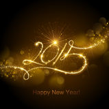New Year 2015 fireworks Stock Photo