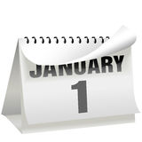 New Years Day Calendar Turns Page January 1 Royalty Free Stock Photo
