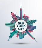 New York city architecture retro vector Stock Images