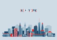 New York City Architecture Vector Illustration Royalty Free Stock Photo