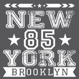 New York City retro vintage typography poster, t-shirt Printing design, vector Badge Applique Label Stock Photography
