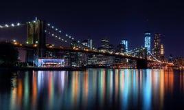 New- York CitySkyline nachts Lizenzfreie Stockfotografie