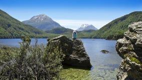 New Zealand Scenic Lake Child Stock Photos