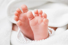 Newborn baby feet Royalty Free Stock Photography