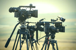 News video cameras Royalty Free Stock Photography